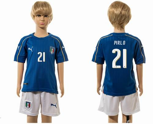 Youth 2016 European Cup series Italy home #21 pirlo  Soccer Jerseys