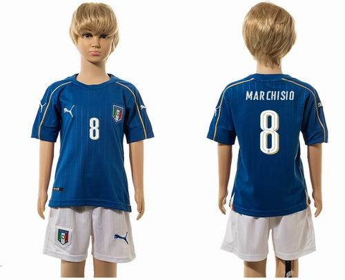 Youth 2016 European Cup series Italy home #8 marchisio  Soccer Jerseys