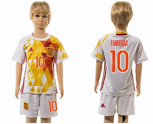 Youth 2016 European Cup series Spain away #10 fabregas soccer jerseys