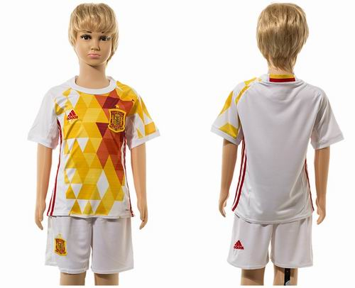 Youth 2016 European Cup series Spain away blank soccer jerseys