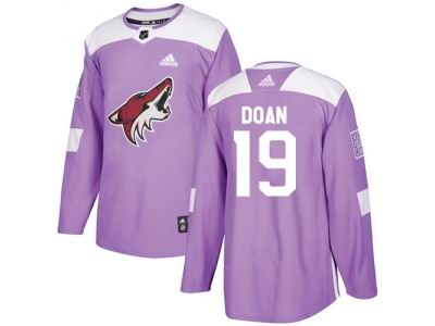 Youth Adidas Phoenix Coyotes #19 Shane Doan Purple Authentic Fights Cancer Stitched NHL Jersey