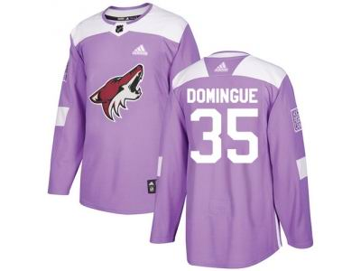 Youth Adidas Phoenix Coyotes #35 Louis Domingue Purple Authentic Fights Cancer Stitched NHL Jersey