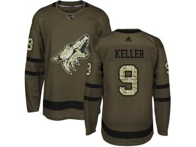 Youth Adidas Phoenix Coyotes #9 Clayton Keller Green Salute to Service NHL Jersey