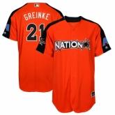 Youth Arizona Diamondbacks #21 Zack Greinke Orange National League 2017 MLB All-Star MLB Jersey