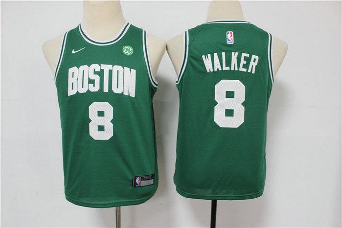 Youth Celtics 8 Kemba Walker Green Youth Swingman Jersey
