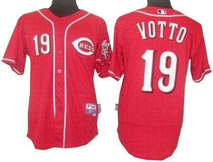 Youth Cincinnati Reds #19 Joey Votto jerseys red