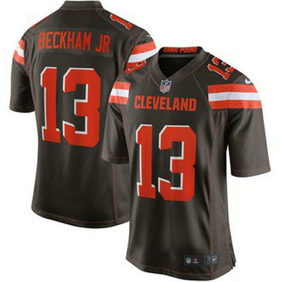 Youth Cleveland Browns #13 Odell Beckham Jr Brown Jersey