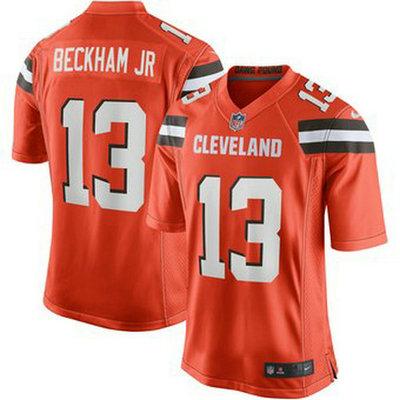 Youth Cleveland Browns #13 Odell Beckham Jr Orange Jersey