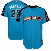 Youth Cleveland Indians #23 Michael Brantley Blue American League 2017 MLB All-Star MLB Jersey