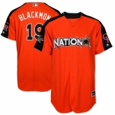 Youth Colorado Rockies #19 Charlie Blackmon Orange National League 2017 MLB All-Star MLB Jersey