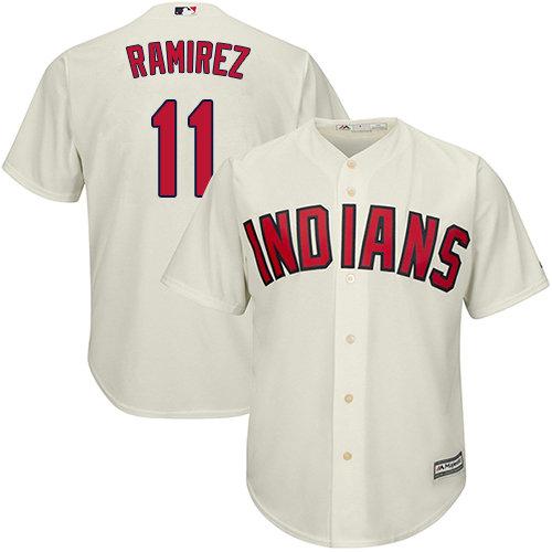 Youth Indians #11 Jose Ramirez Cream Alternate Stitched Youth Baseball Jersey