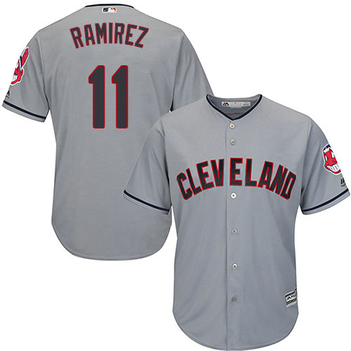 Youth Indians #11 Jose Ramirez Grey Road Stitched Youth Baseball Jersey