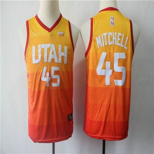 Youth Jazz 45 Donovan Mitchell Multi Color City Edition Youth Nike Swingman Jersey