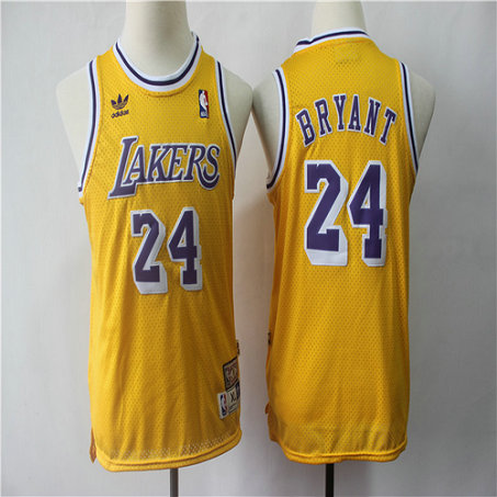 Youth Lakers 24 Kobe Bryant Gold Youth Hardwood Classics Jersey