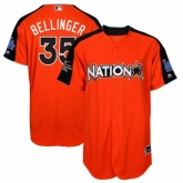Youth Los Angeles Dodgers #35 Cody Bellinger Orange National League 2017 MLB All-Star MLB Jersey