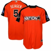 Youth Los Angeles Dodgers #5 Corey Seager Orange National League 2017 MLB All-Star MLB Jersey