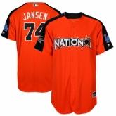 Youth Los Angeles Dodgers #74 Kenley Jansen Orange National League 2017 MLB All-Star MLB Jersey