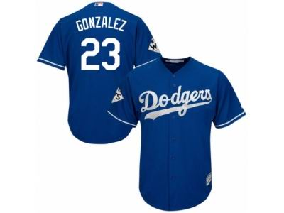 Youth Majestic Los Angeles Dodgers #23 Adrian Gonzalez Replica Royal Blue Alternate 2017 World Series Bound Cool Base MLB Jersey