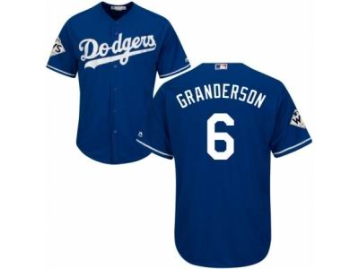 Youth Majestic Los Angeles Dodgers #6 Curtis Granderson Replica Royal Blue Alternate 2017 World Series Bound Cool Base MLB Jersey