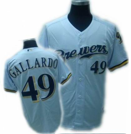 Youth Milwaukee Brewers Yovani Gallardo jersey #49 Baseball Jersey white