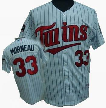 Youth Minnesota Twins #33 J Morneau 2010 white Jersey