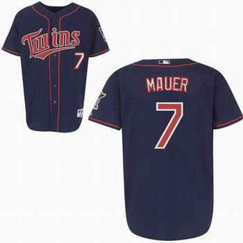 Youth Minnesota Twins #7 Joe Mauer 2010 blue jersey