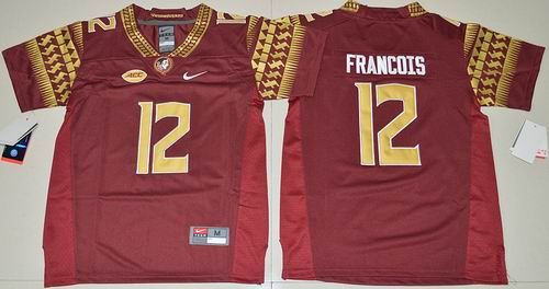 Youth NCAA Florida State Seminoles #12 Deondre Francois red Jersey