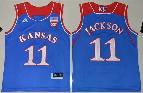 Youth NCAA Kansas Jayhawks #11 Josh Jackson blue Basketball Jersey