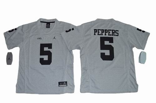 Youth NCAA Michigan Wolverines #5 Jabrill Peppers grey Jersey