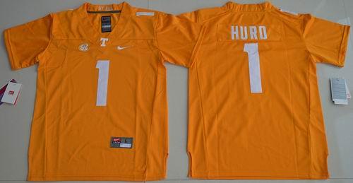 Youth NCAA Tennessee Vols #1 hurd orange Jersey