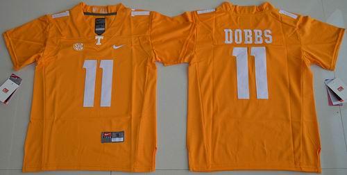 Youth NCAA Tennessee Vols #11 Joshua Dobbs orange Jersey