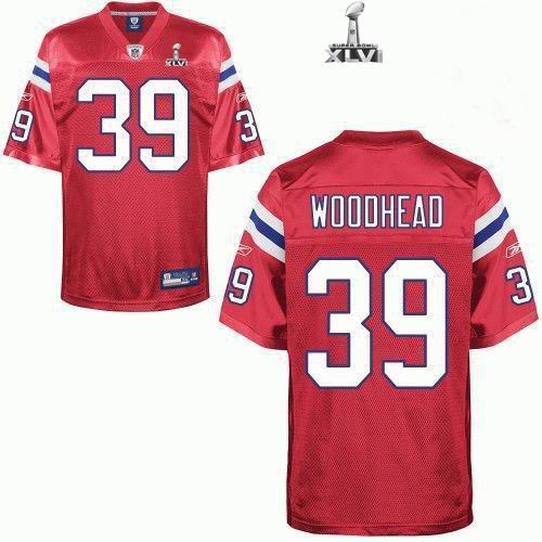 Youth New England Patriots #39 Danny Woodhead 2012 Super Bowl XLVI NFL Jersey Red
