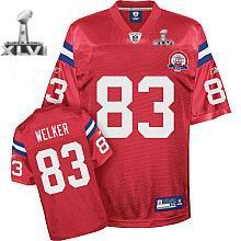 Youth New England Patriots #83 Wes Welker 50 TH jersey 2012 Super Bowl XLVI Jersey red