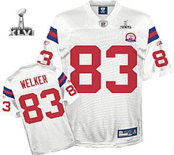 Youth New England Patriots #83 Wes Welker 50 TH jersey 2012 Super Bowl XLVI Jersey white