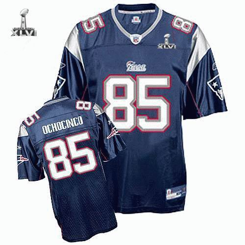 Youth New England Patriots #85 Chad Ochocinco 2012 Super Bowl XLVI Jersey Blue