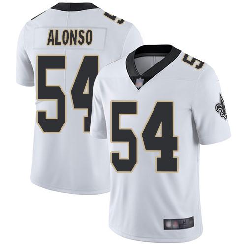 Youth New Orleans Saints #54 Kiko Alonso White Vapor Untouchable Limited Jersey