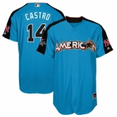 Youth New York Yankees #14 Starlin Castro Authentic Blue American League 2017 MLB All-Star MLB Jersey