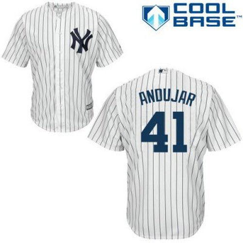 Youth New York Yankees #41 Miguel Andujar White Baseball Jersey