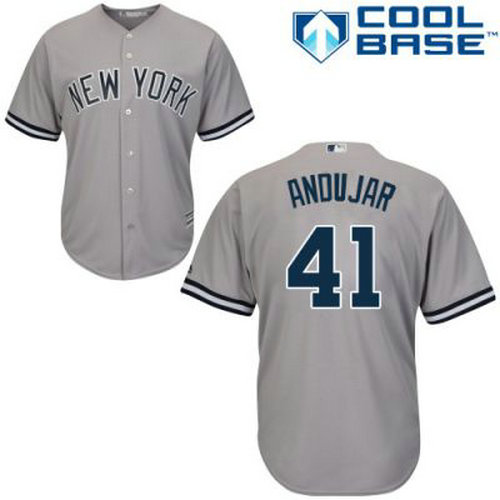 Youth New York Yankees Miguel Andujar #41 Gray Jersey