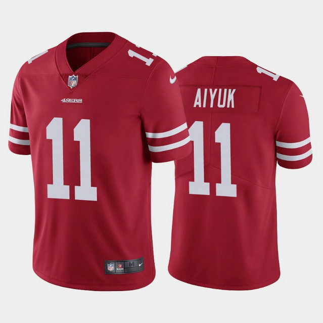 Youth Nike 49ers 11 Brandon Aiyuk Red Youth 2020 NFL Draft First Round Pick Vapor Untouchable Limited Jersey
