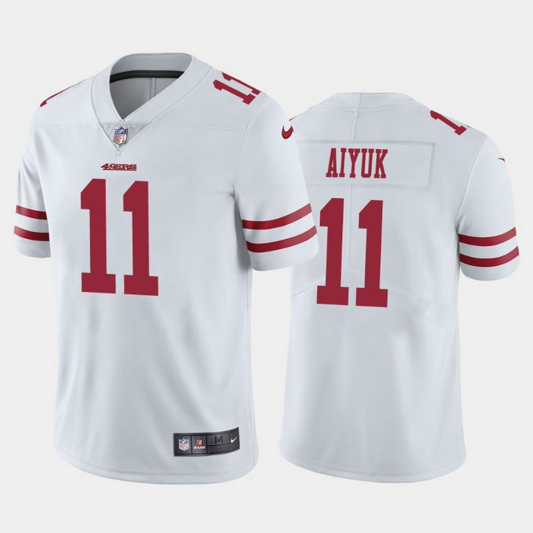 Youth Nike 49ers 11 Brandon Aiyuk White Youth 2020 NFL Draft First Round Pick Vapor Untouchable Limited Jersey