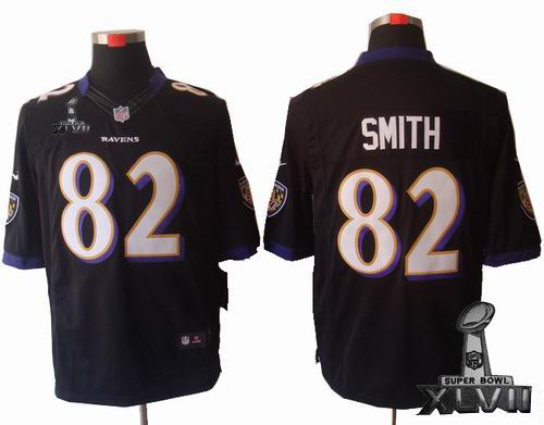 Youth Nike Baltimore Ravens #82 Torrey Smith black limited 2013 Super Bowl XLVII Jersey