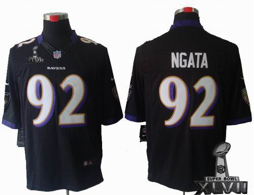Youth Nike Baltimore Ravens #92 Haloti Ngata black Limited 2013 Super Bowl XLVII Jersey