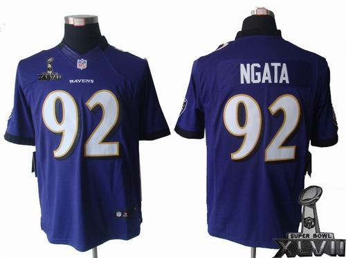 Youth Nike Baltimore Ravens #92 Haloti Ngata purple limited 2013 Super Bowl XLVII Jersey