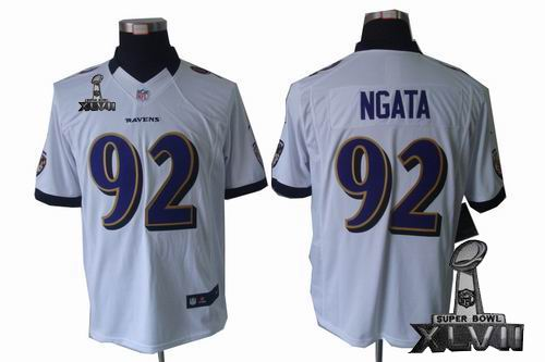 Youth Nike Baltimore Ravens #92 Haloti Ngata white limited 2013 Super Bowl XLVII Jersey