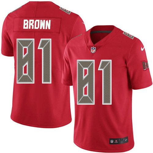 Youth Nike Buccaneers #81 Antonio Brown Red Youth Stitched NFL Limited Rush Jersey