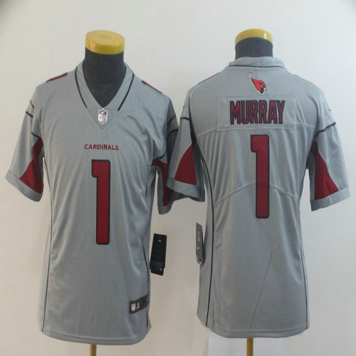 Youth Nike Cardinals 1 Kyler Murray Silver Youth Inverted Legend Jersey