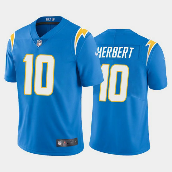 Youth Nike Chargers 10 Justin Herbert Light Blue Youth 2020 NFL Draft First Round Pick Vapor Untouchable Limited Jersey