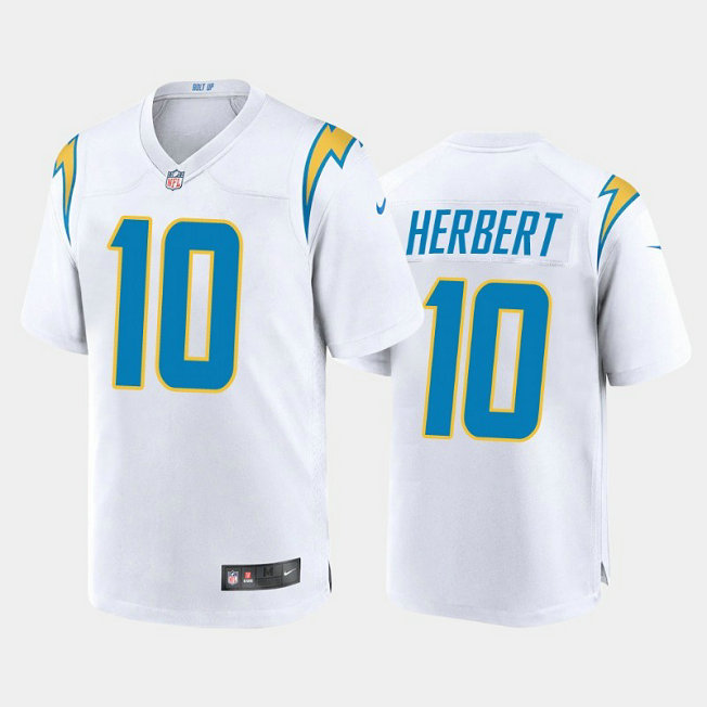 Youth Nike Chargers 10 Justin Herbert White Youth 2020 NFL Draft First Round Pick Vapor Untouchable Limited Jersey