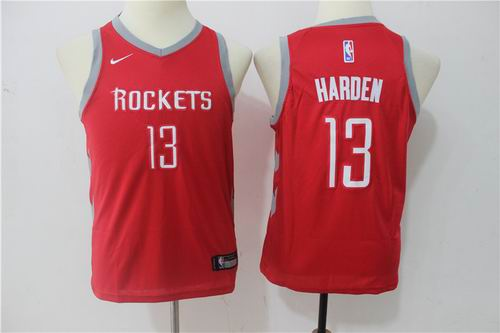 Youth Nike Houston Rockets #13 James Harden Red Jersey